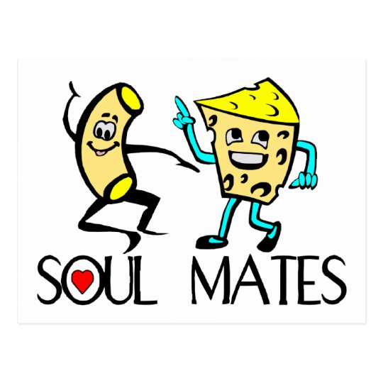 Soul Mates Best Friends Postcard