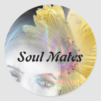 """Soul Mates Forever""* Classic Round Sticker"
