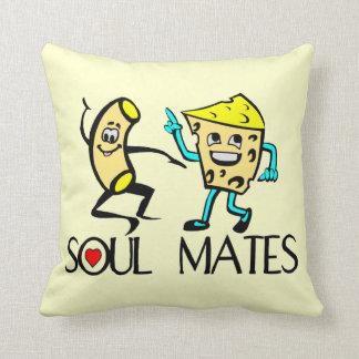 Soul Mates Mac N Cheese Throw Pillow