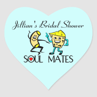 Soul Mates Heart Sticker