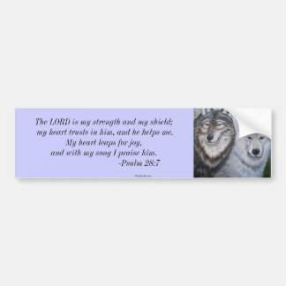 Soul Mates Wolves by Lori Karels Bumper Sticker