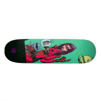 artsprojekt, soul melt skate deck, jim, mahfood, food, one, 40oz, comics, clerks, grrl scouts, colt 45, stupid, page, filler, man, live art, live, art, z-trip, murs, felt, true, tales, underground, hip, hop, sarah, silverman, program, frenchpulp, mahf, earthworms, comic, books., jim mahfood, jim mahfood skateboards, food one skateboards, 40 oz comics skateboards, food one, 40 oz comics, Skateboard com design gráfico personalizado