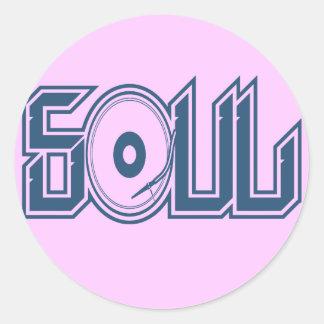Soul Music Classic Round Sticker