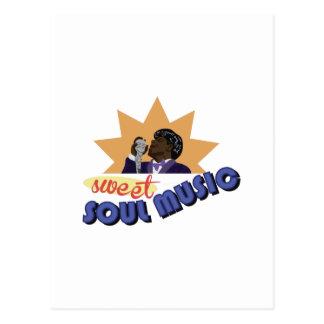 Soul Music Postcard
