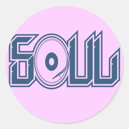 Soul Music Round Sticker