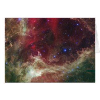 Soul Nebula emission nebulae in Cassiopeia Card