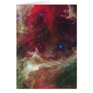 Soul Nebula emission nebulae in Cassiopeia Greeting Card
