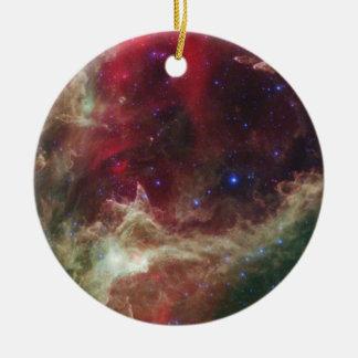 Soul Nebula emission nebulae in Cassiopeia Ceramic Ornament