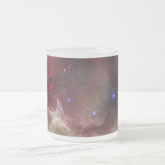 Soul Nebula emission nebulae in Cassiopeia Frosted Glass Coffee Mug