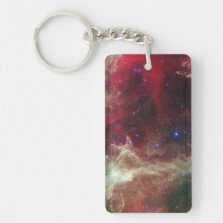 Soul Nebula emission nebulae in Cassiopeia Keychain