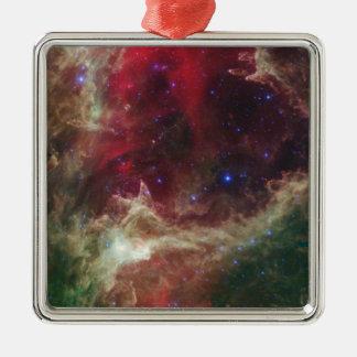Soul Nebula emission nebulae in Cassiopeia Metal Ornament