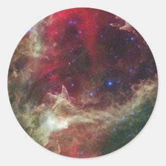 Soul Nebula Round Stickers
