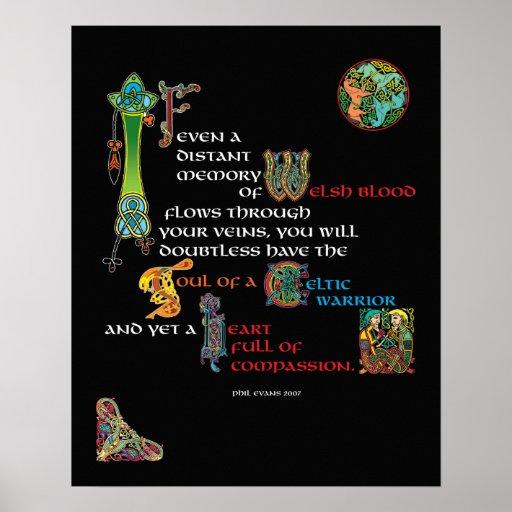 Soul Of A Celtic Warrior Poster