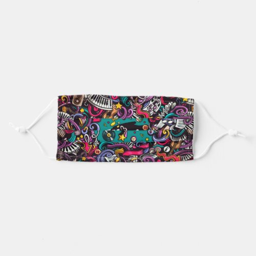 Soul Of Music Be Hippie Adult Cloth Face Mask