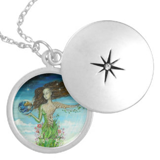 Soul of the Earth Round Locket Necklace
