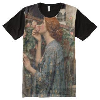 Soul of the Rose, John William Waterhouse Fine Art All-Over Print T-shirt