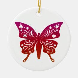 Soul Path Goddess Butterfly Ceramic Ornament
