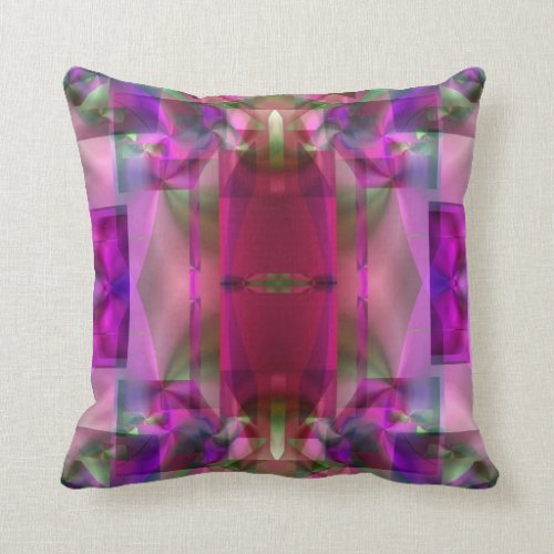 Soul Sanctuary 4 Glowing Color Abstract Pillow