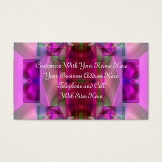 Soul Sanctuary 4 Glowing Neon Color Abstract Business Card