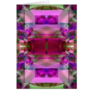 Soul Sanctuary 4 Glowing Neon Color Abstract Cards