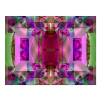 Soul Sanctuary 4 Glowing Neon Color Abstract Postcard