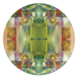 Soul Sanctuary 5 Shimmering Color Abstract Melamine Plate