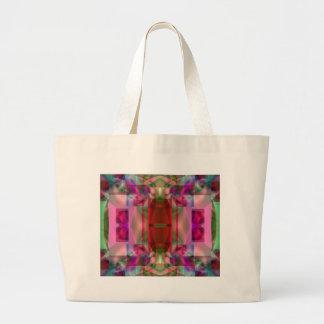 Soul Sanctuary Inspiring Vibrant Neon Glow Canvas Bags