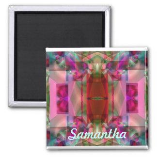 Soul Sanctuary Inspiring Vibrant Neon Glow 2 Inch Square Magnet