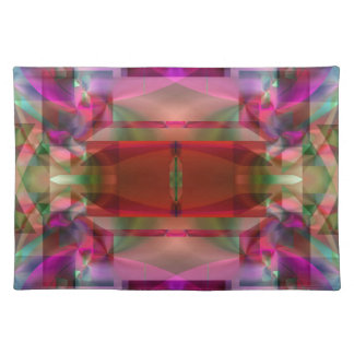 Soul Sanctuary Shimmering Color Abstract Cloth Placemat