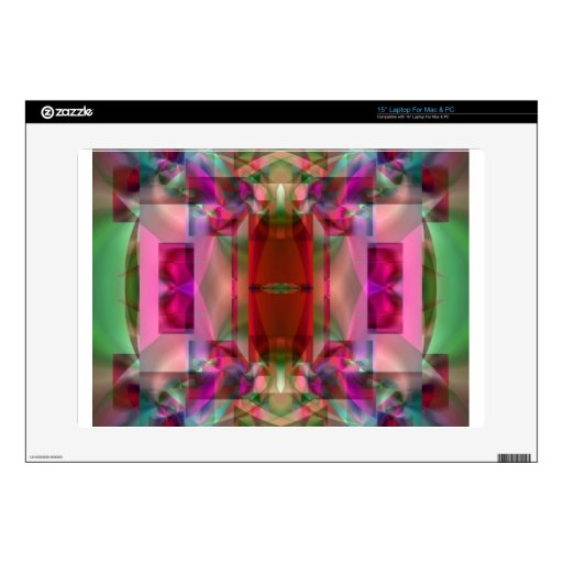 "Soul Sanctuary Shimmering Color Abstract Skin For 15"" Laptop"