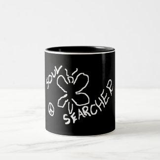 soul searcher Two-Tone coffee mug