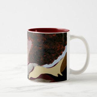 Soul Sista by Kenya Verrett Two-Tone Coffee Mug