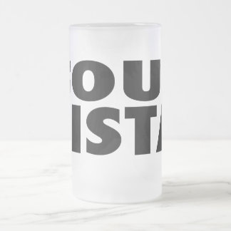 Soul Sista Frosted Glass Beer Mug
