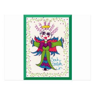 Soul Sistah Elf Angel Postcard
