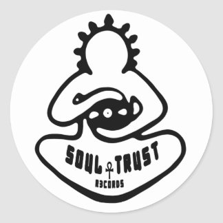 Soul Trust Records Logo Glossy Circle Sticker