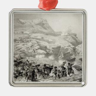 Soulak Pass at Akhati, Dagestan, plate 61 from a b Christmas Tree Ornament