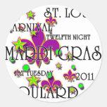 Soulard Mardi Gras 2011 Classic Round Sticker