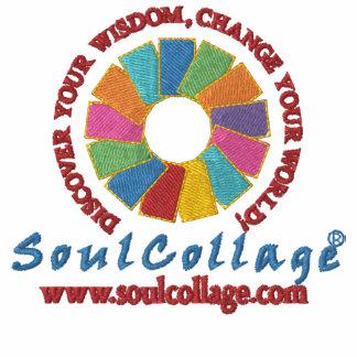 SoulCollage® bordó sudadera con capucha de la