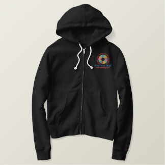 SoulCollage® Embroidered Ladies Zip Hoodie