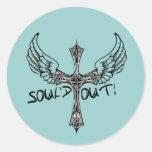Soul'd hacia fuera - agotado al grupo juvenil de etiqueta redonda
