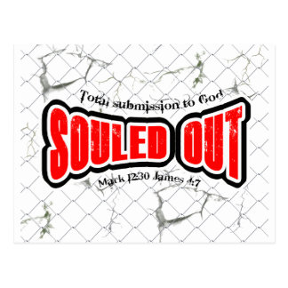 souled out postcard