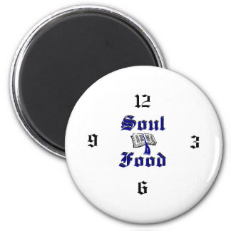soulfoodclock 2 inch round magnet