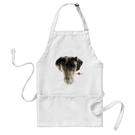 Soulful Black Lab Face Adult Apron