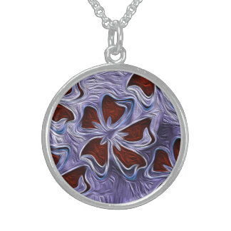 Soulful Brook Sterling Silver Round Pendant Necklace