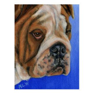 Soulful Bulldog - Dog Breed Art Postcard