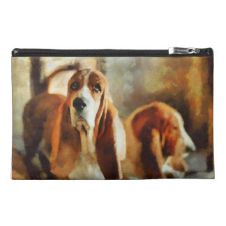 soulful expression of a basset travel accessories bag