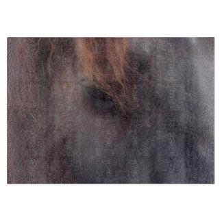 Soulful Eye Of A Black Horse Animal Cutting Board