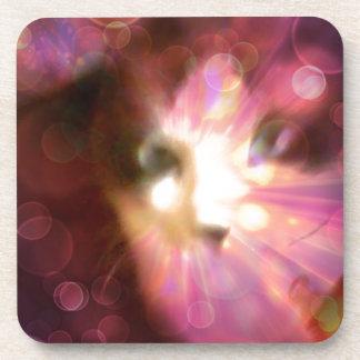 soulful eyes kitty beverage coaster