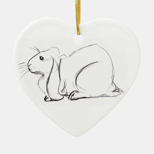 Soulful Lop Bunny Ornament
