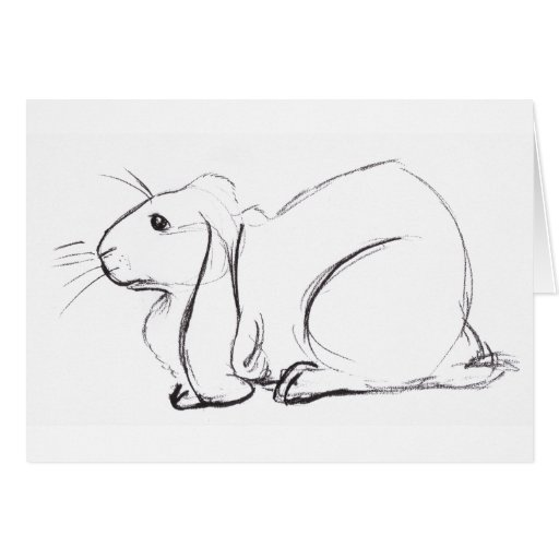 Soulful Lop Bunny Sketch notecard Stationery Note Card
